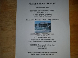 Pioneer Ridge Doubles graphic