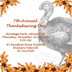 7th Annual Thanksdiscing Day 2018 graphic