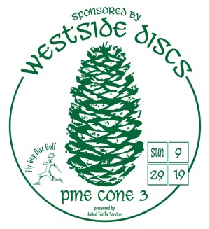 United Traffic Services presents the 3rd Annual Pine Cone Open Sponsored by WESTSIDE DISCS graphic