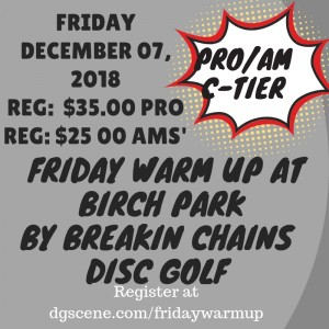 Friday Warm Up at Birch Park graphic