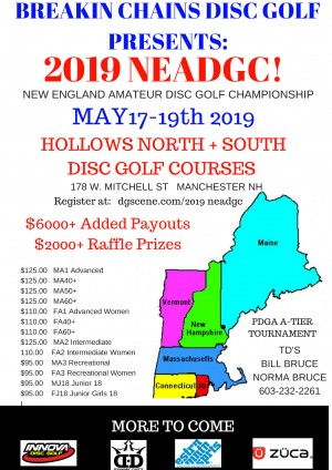 2019 New England Amateur Disc Golf Championship graphic