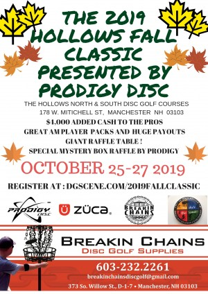 The 2019 Hollows Fall Classic Presented by  Prodigy Disc graphic