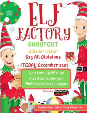 The Innova Elf Factory Shootout ~ Golden Ticket graphic