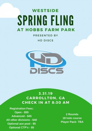 2nd Annual Westside Spring Fling - Presented by HD DISCS graphic