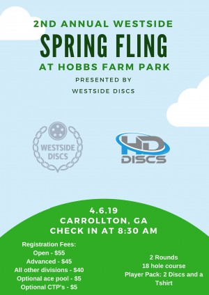 2nd Annual Westside Spring Fling - Sponsored by Westside Discs graphic