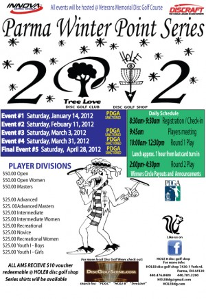 Parma 2012 Winter Points Series #4 Sponsored by Treelove & HOLE8 graphic