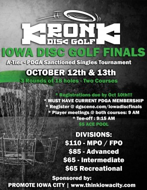 The Iowa Disc Golf Finals presented by Kronk Disc Golf graphic