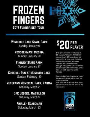 NEODGA 2019 Frozen Fingers on the Fairway Series Finale/ Boardman Park Disc Golf Open II graphic