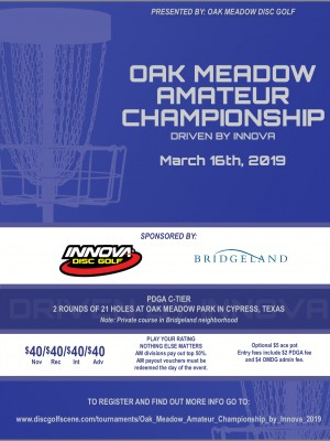 Oak Meadow Amateur Championship Driven by Innova graphic
