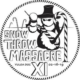 Snow Throw Massacre 11 sponsored by Dynamic Discs graphic