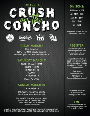 17th Annual Crush on the Concho graphic
