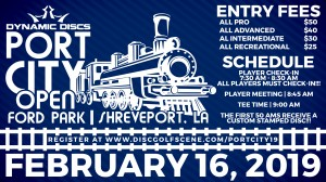 Dynamic Discs Presents: 2019 Port City Open graphic