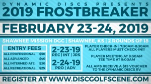 Dynamic Discs Presents: 2019 Shawnee Mission Frostbreaker (REC,INT AND JUNIORS) graphic