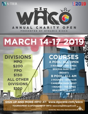 DGPT - Waco Annual Charity Open presented by Dynamic Discs graphic