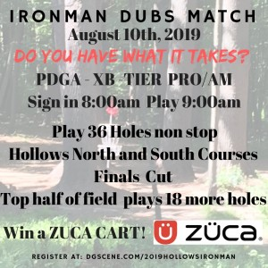 Hollows Ironman Doubles by Breakin Chains Disc Golf graphic
