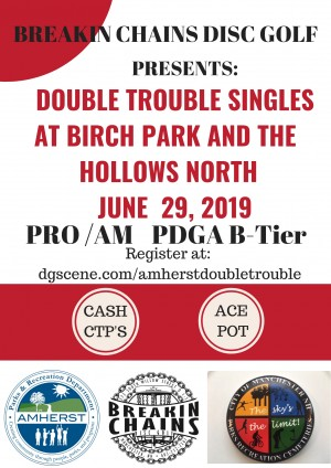 Double Trouble Singles Match at Birch Park and the Hollows graphic