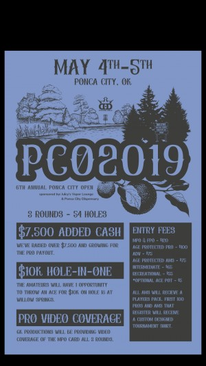 The Ponca City Open Sponsored by Dynamic Discs graphic