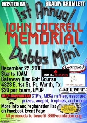 1st Annual John Cockrell Memorial Dubbs Mini graphic