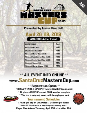 2019 Santa Cruz Masters Cup (Am) - Presented by Innova graphic