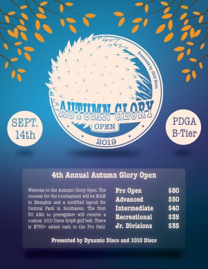 The 4th Annual Autumn Glory Open Presented by 1010 Discs graphic
