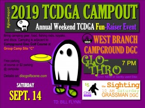 2019 TCDGA Annual Campout - Glo Throw graphic