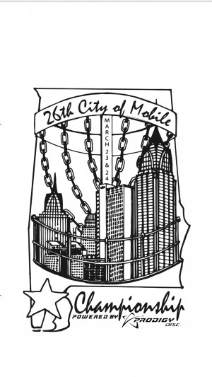 26th Annual City Of Mobile Championship Presented by Prodigy Disc graphic