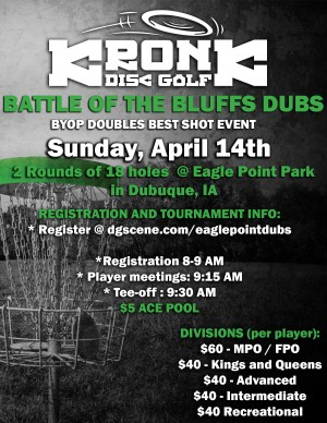 Battle of the Bluffs BYOP Doubles sponsored by Dupaco graphic