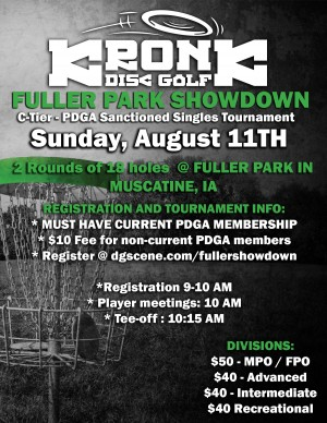 Fuller Park Showdown Singles presented by Kronk Disc Golf graphic