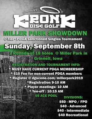 Miller Park Showdown presented by Kronk Disc Golf graphic