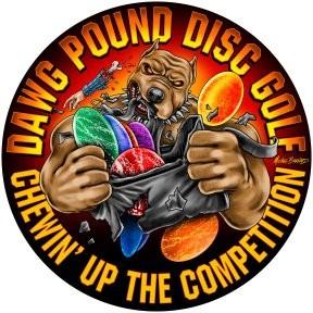DAWG POUND DISC GOLF 2019 Bag Tag Championship graphic