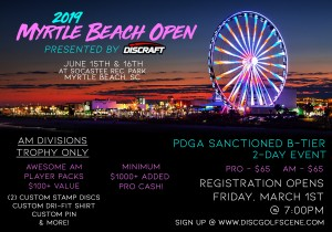 2019 Myrtle Beach Open Presented by Discraft graphic