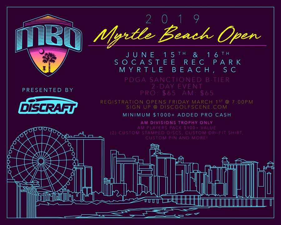 a0d06b889 2019 Myrtle Beach Open Presented by Discraft (2019, Myrtle Beach ...