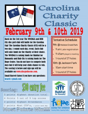 2019 Carolina Charity Classic graphic