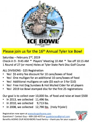 16th Annual Tyler Ice Bowl graphic