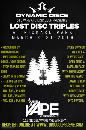 Lost Disc Triples at Pickard Park graphic