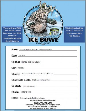 Roanoke Disc Golf Ice Bowl graphic