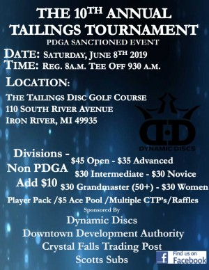 The 10th Annual Tailings Tournament graphic