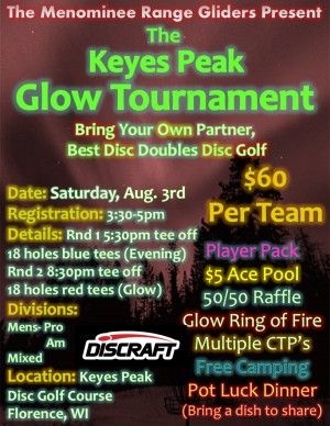 Keyes Peak Glow Tournament graphic