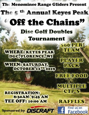 """Keyes Peak """"Off the Chains"""" Doubles Tourney graphic"""