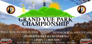 Grand Vue Park Championship Driven By Innova Champion Discs graphic