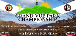 Grand Vue Park Championship Driven By Innova Champion Discs graphic