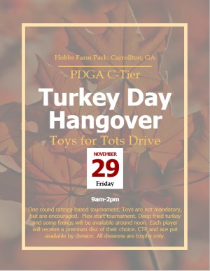 Turkey Day Hangover (Toys For Tots Drive) graphic