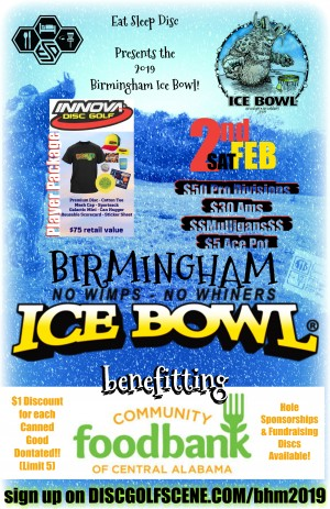 The B-Ham Ice bowl Presented by Eat Sleep Disc graphic
