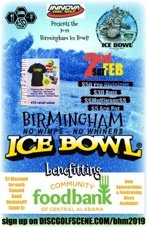 The B-Ham Ice bowl Presented by Innova Champion Discs graphic