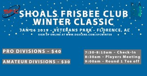 Shoals Frisbee Club Winter Classic graphic
