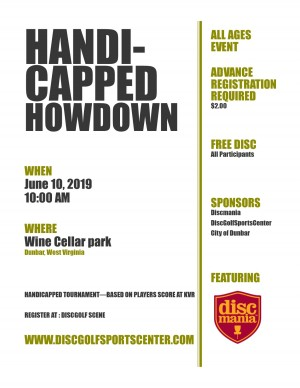Handicapped Hoedown sponsored by Discmania graphic