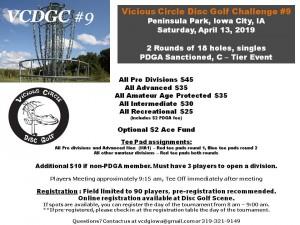 9th Annual Vicious Circle Disc Golf Challenge graphic