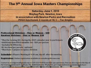 9th Annual Iowa Masters Championships by Vicious Circle Disc Golf graphic