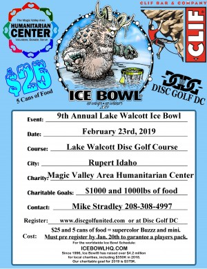 9th Annual Lake Walcott Ice Bowl graphic