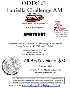 ODDS #1 - Loriella Challenge AM Driven by INNOVA (All AM except MA1 & MA40) graphic